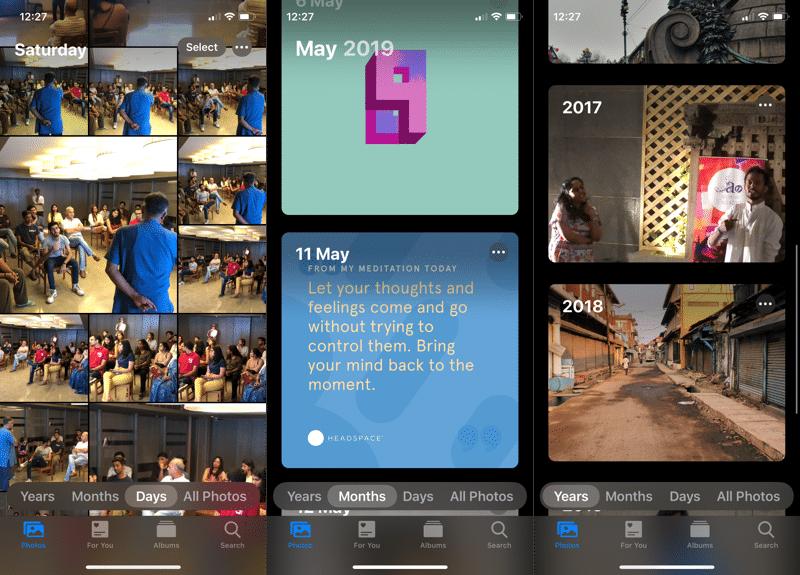 iOS 13 Photos App New View