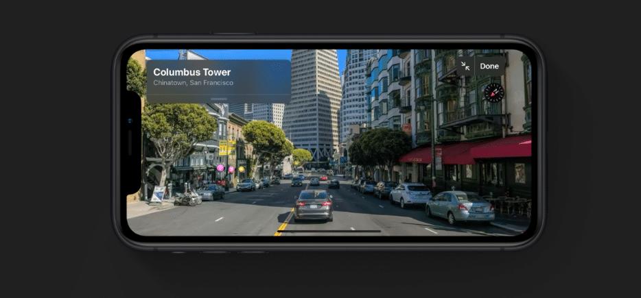 iOS 13 Maps Look Around Street View