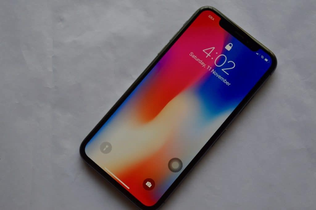 iPhone X Lock screen No Notifications Locked