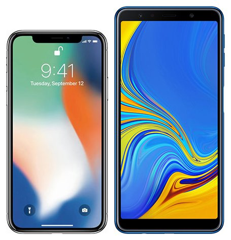 iphone-x-oder-samsung-galaxy-a7-