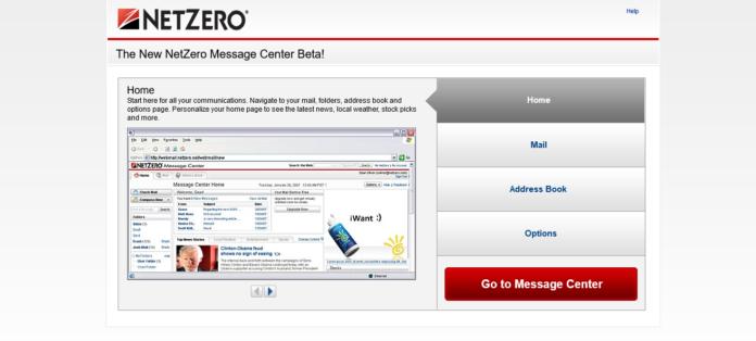 netzero com message center login