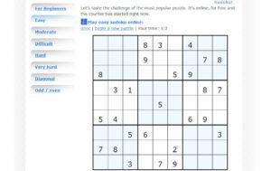 Sudoku Menu