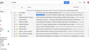 how to find deleted emails in gmail