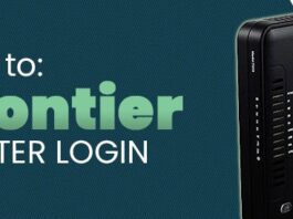 how to log into frontier router